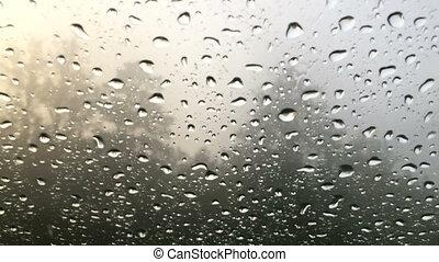 rain outside the window