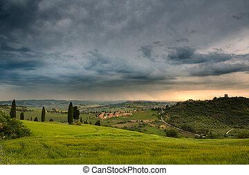 Rain over Monticchiello