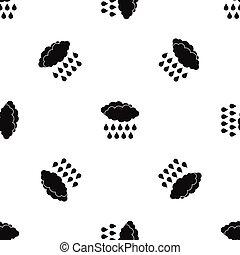 Rain pattern seamless black