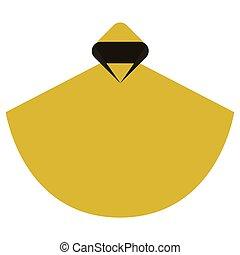Rain poncho in a minimalist style flat design