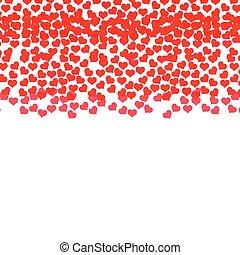 rain red hearts love design