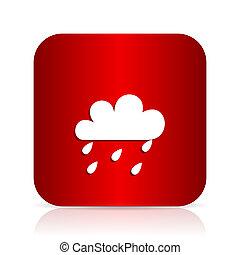 rain red square modern design icon