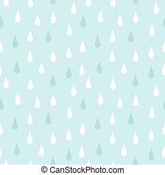 Rain seamless pattern - Rain. Seamless vector pattern