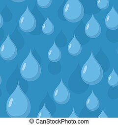 Rain seamless pattern. Vector background of Blue water drops.