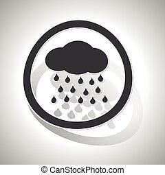 Rain sign sticker, curved