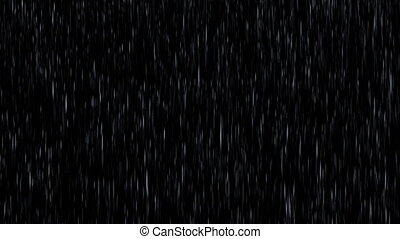 Rain Starts and Ends on a Black Background, Just Add the Rain Over Your Composition by Add or Screen Mode. Seamless Looped 3d Animation, 4K.