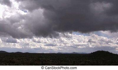 Rain Storm - Fast moving desert rain storm