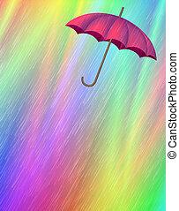 Rain & UmbrellaRain & Umbrella - Digital Illustration....
