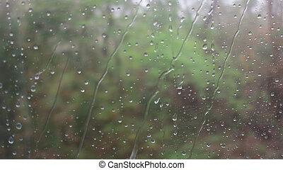 Rain Water drop on a mirror.