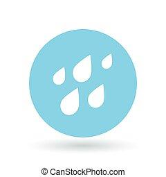 Rain waterdrops icon. Rainfall sign. Raindrops symbol. Vector illustration.