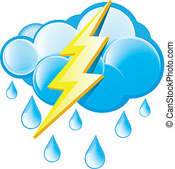 Rain With Lightning Icon