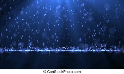 Rain with particles - Bright particles fall like rain.