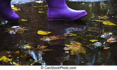 rainboots at the puddle