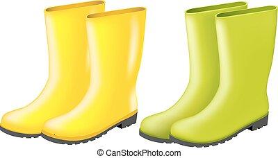 rainboots, ensemble
