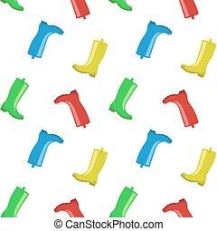 Rainboots seamless pattern