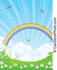 rainbow., τοπίο