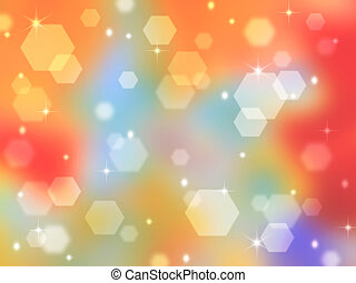Rainbow abstract background with bokeh highlights