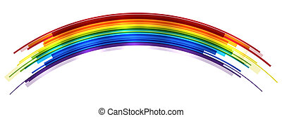 Rainbow - Abstract bright rainbow icolated on white. EPS10 ...