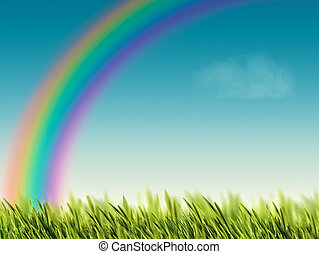 Rainbow, abstract environmental backgrounds