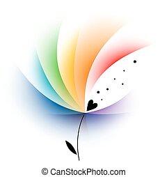 Rainbow abstract flower