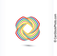 Rainbow  abstract logo