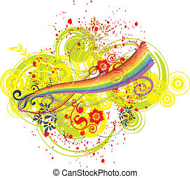 Rainbow and artistic background