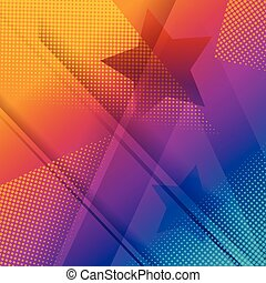 Rainbow and star background