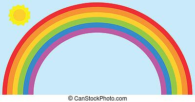 Rainbow and sun