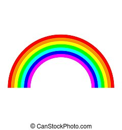Rainbow arc icon.