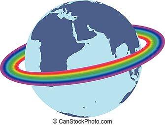 Rainbow around the earth