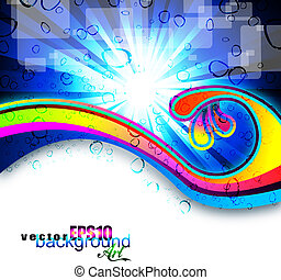 Rainbow Art Business Background for Flyers