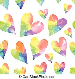 Rainbow art hearts.