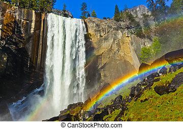 Rainbow at Vernal Falls, Yosemite National park