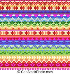 rainbow Aztec stripe - seamless vector background