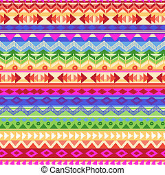 rainbow Aztec stripe - seamless vector background