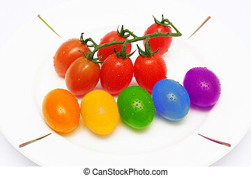 Rainbow Baby Tomatoes