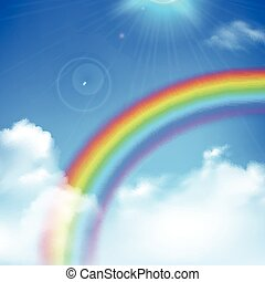 Rainbow Background Illustration