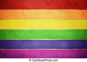Rainbow background - made on old grunge paper texture, great...