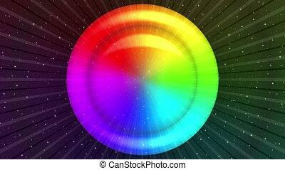 Rainbow background, Seamless Loop