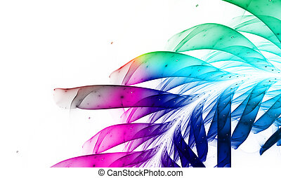 Rainbow background for modern composition.