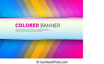 Rainbow background with banner place