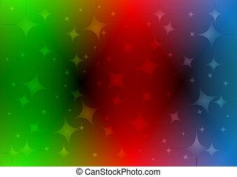Rainbow background with stars .