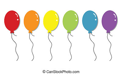 Colorful rainbow party balloons