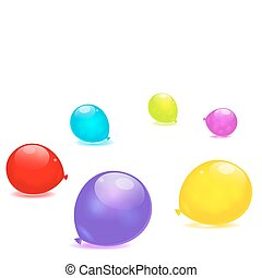Rainbow balloons isolated on white