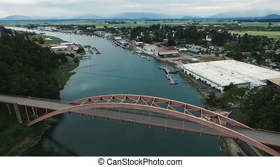 Rainbow Bridge LaConner Washington Skagit County Reservation...