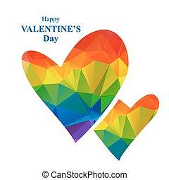 rainbow bright hearts