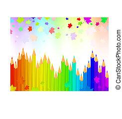 rainbow bright pencils