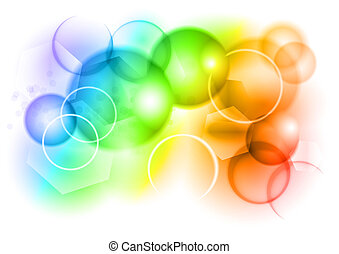 bubble abstract background in rainbow color