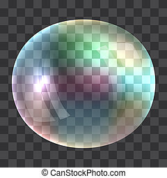 Rainbow bubble concept background, realistic style