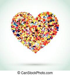 Rainbow Button Background Heart